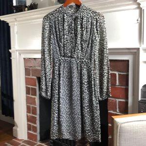 Burberry Brit Dark Grey & Moss Green Floral Dress